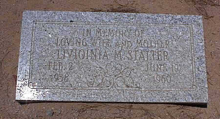 STALTER, LIVIOINIA M. - Pinal County, Arizona   LIVIOINIA M. STALTER - Arizona Gravestone Photos