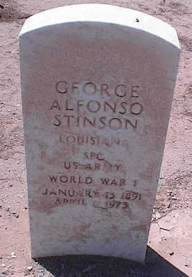 STINSON, GEORGE ALFONSO - Pinal County, Arizona | GEORGE ALFONSO STINSON - Arizona Gravestone Photos
