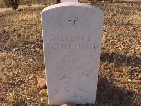 SUMMERFIELD, MERLIN L. - Pinal County, Arizona | MERLIN L. SUMMERFIELD - Arizona Gravestone Photos