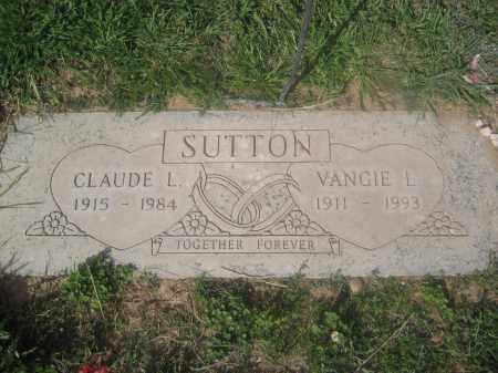 SUTTON, CLAUDE L. - Pinal County, Arizona   CLAUDE L. SUTTON - Arizona Gravestone Photos