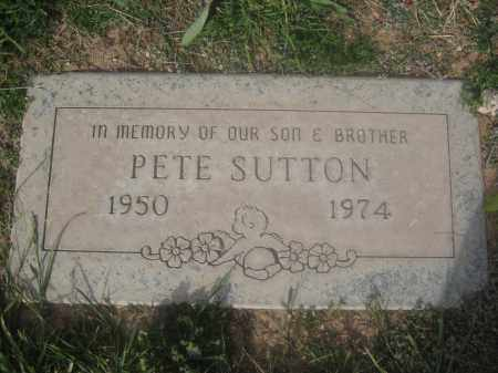 SUTTON, PETE - Pinal County, Arizona | PETE SUTTON - Arizona Gravestone Photos