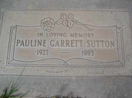 SUTTON, PAULINE GARRETT - Pinal County, Arizona   PAULINE GARRETT SUTTON - Arizona Gravestone Photos