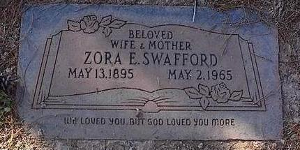 SWAFFORD, ZORA E. - Pinal County, Arizona | ZORA E. SWAFFORD - Arizona Gravestone Photos