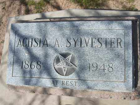 SYLVESTER, ACHSIA A. - Pinal County, Arizona | ACHSIA A. SYLVESTER - Arizona Gravestone Photos