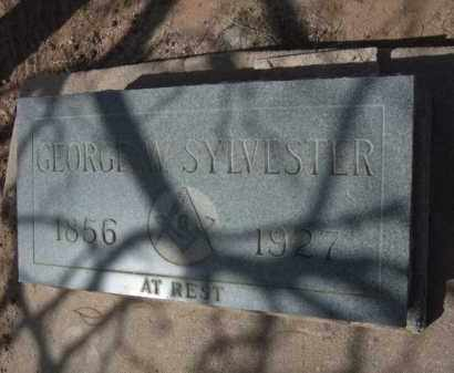 SYLVESTER, GEORGE W. - Pinal County, Arizona | GEORGE W. SYLVESTER - Arizona Gravestone Photos