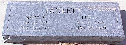 ARTHUR TACKETT, MARY C. - Pinal County, Arizona   MARY C. ARTHUR TACKETT - Arizona Gravestone Photos
