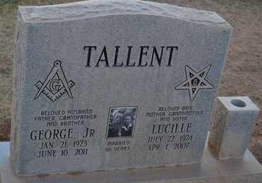 TALLENT, LUCILLE - Pinal County, Arizona | LUCILLE TALLENT - Arizona Gravestone Photos