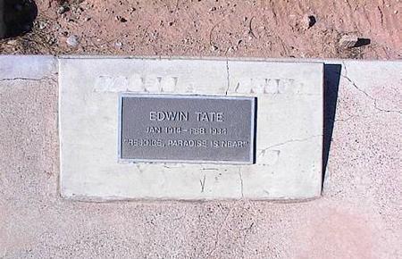 TATE, EDWIN - Pinal County, Arizona | EDWIN TATE - Arizona Gravestone Photos