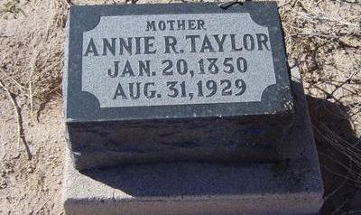 TAYLOR, ANNIE - Pinal County, Arizona | ANNIE TAYLOR - Arizona Gravestone Photos