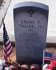 TELLEZ, LOUIS P. - Pinal County, Arizona | LOUIS P. TELLEZ - Arizona Gravestone Photos