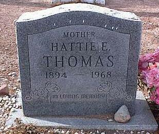 THOMAS, HATTIE E. - Pinal County, Arizona | HATTIE E. THOMAS - Arizona Gravestone Photos