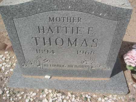 THOMAS, HATTIE E. - Pinal County, Arizona | HATTIE E. THOMAS - Arizona Gravestone Photos