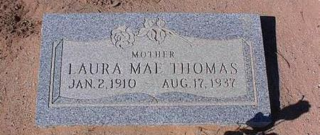 HOUSER THOMAS, LAURA MAE - Pinal County, Arizona | LAURA MAE HOUSER THOMAS - Arizona Gravestone Photos