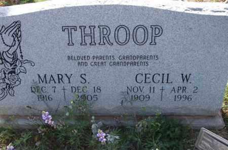 THROOP, MARY S. - Pinal County, Arizona | MARY S. THROOP - Arizona Gravestone Photos