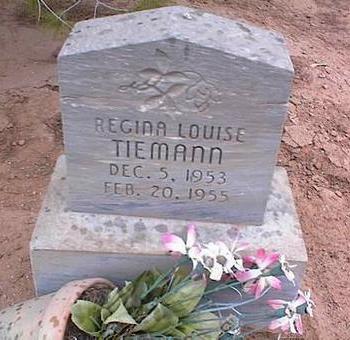 TIEMANN, REGINA LOUISE - Pinal County, Arizona   REGINA LOUISE TIEMANN - Arizona Gravestone Photos