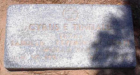 TINDALL, CYRUS E. - Pinal County, Arizona | CYRUS E. TINDALL - Arizona Gravestone Photos