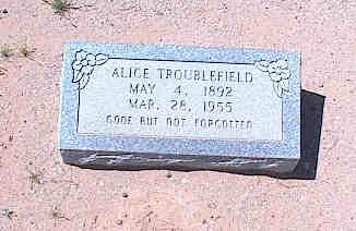 TROUBLEFIELD, ALICE - Pinal County, Arizona | ALICE TROUBLEFIELD - Arizona Gravestone Photos