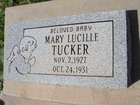 TUCKER, MARY LUCILLE - Pinal County, Arizona   MARY LUCILLE TUCKER - Arizona Gravestone Photos