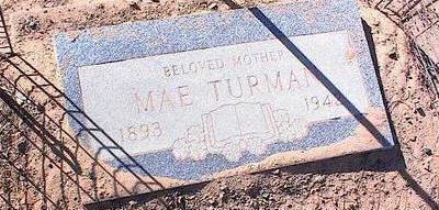 TURMAN, MAE - Pinal County, Arizona | MAE TURMAN - Arizona Gravestone Photos