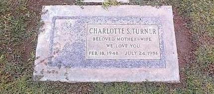 TURNER, CHARLOTTE S. - Pinal County, Arizona | CHARLOTTE S. TURNER - Arizona Gravestone Photos