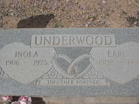 UNDERWOOD, INOLA - Pinal County, Arizona | INOLA UNDERWOOD - Arizona Gravestone Photos