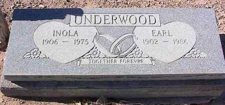 UNDERWOOD, INOLA - Pinal County, Arizona   INOLA UNDERWOOD - Arizona Gravestone Photos