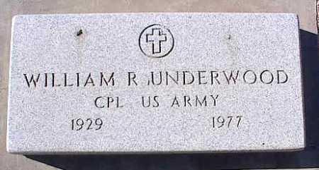 UNDERWOOD, WILLIAM R. - Pinal County, Arizona   WILLIAM R. UNDERWOOD - Arizona Gravestone Photos