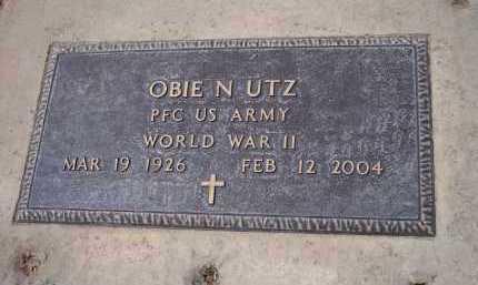 UTZ, OBIE N. - Pinal County, Arizona   OBIE N. UTZ - Arizona Gravestone Photos