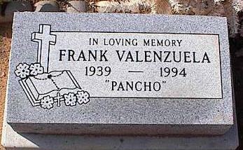 VALENZUELA, FRANK - Pinal County, Arizona   FRANK VALENZUELA - Arizona Gravestone Photos