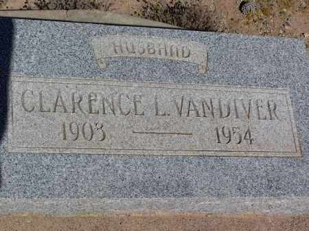 VANDIVER, CLARENCE L - Pinal County, Arizona   CLARENCE L VANDIVER - Arizona Gravestone Photos