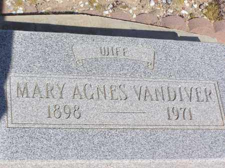 VANDIVER, MARY AGNES - Pinal County, Arizona | MARY AGNES VANDIVER - Arizona Gravestone Photos