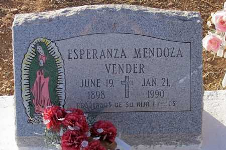MENDOZA VENDER, ESPERANZA - Pinal County, Arizona | ESPERANZA MENDOZA VENDER - Arizona Gravestone Photos