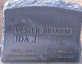 BRANUM, VESTER - Pinal County, Arizona | VESTER BRANUM - Arizona Gravestone Photos