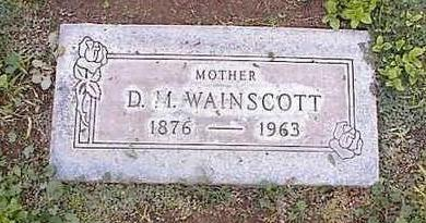 WAINSCOTT, D.M. - Pinal County, Arizona | D.M. WAINSCOTT - Arizona Gravestone Photos