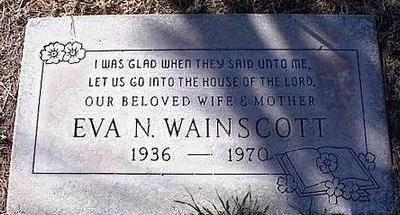 WAINSCOTT, EVA N. - Pinal County, Arizona | EVA N. WAINSCOTT - Arizona Gravestone Photos
