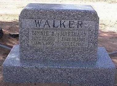 WALKER, MARTHANN - Pinal County, Arizona | MARTHANN WALKER - Arizona Gravestone Photos