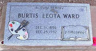 WARD, BURTIS LEOTA - Pinal County, Arizona | BURTIS LEOTA WARD - Arizona Gravestone Photos