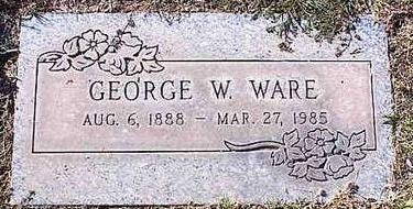 WARE, GEORGE W. - Pinal County, Arizona | GEORGE W. WARE - Arizona Gravestone Photos