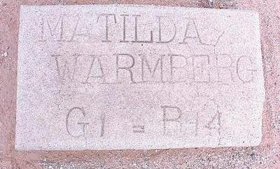 WARMBERG, MATILDA - Pinal County, Arizona | MATILDA WARMBERG - Arizona Gravestone Photos