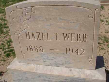 WEBB, HAZEL T. - Pinal County, Arizona | HAZEL T. WEBB - Arizona Gravestone Photos