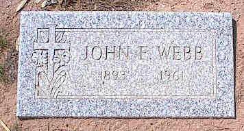 WEBB, JOHN F. - Pinal County, Arizona | JOHN F. WEBB - Arizona Gravestone Photos