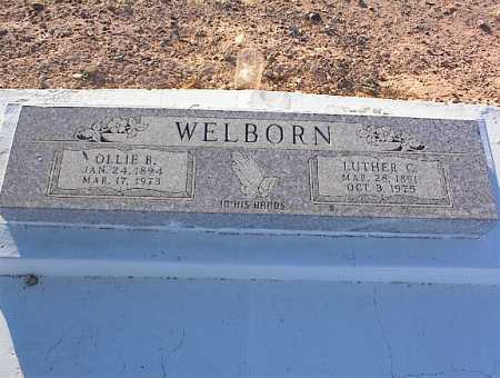 WELBORN, OLLIE B. - Pinal County, Arizona | OLLIE B. WELBORN - Arizona Gravestone Photos