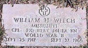 WELCH, WILLIAM H. - Pinal County, Arizona | WILLIAM H. WELCH - Arizona Gravestone Photos