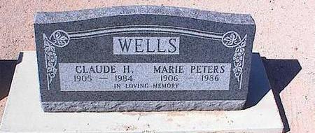 WELLS, CLAUDE H. - Pinal County, Arizona   CLAUDE H. WELLS - Arizona Gravestone Photos