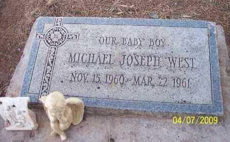 WEST, MICHAEL JOSEPH - Pinal County, Arizona   MICHAEL JOSEPH WEST - Arizona Gravestone Photos