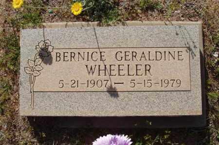 WHEELER, BERNICE GERALDINE - Pinal County, Arizona | BERNICE GERALDINE WHEELER - Arizona Gravestone Photos
