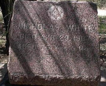 WHITE, NICHOLAS - Pinal County, Arizona | NICHOLAS WHITE - Arizona Gravestone Photos