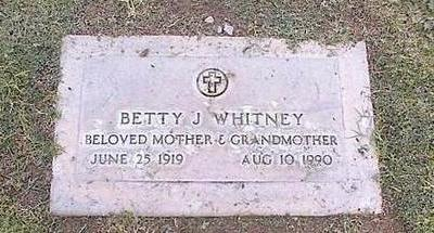 WHITNEY, BETTY J. - Pinal County, Arizona | BETTY J. WHITNEY - Arizona Gravestone Photos