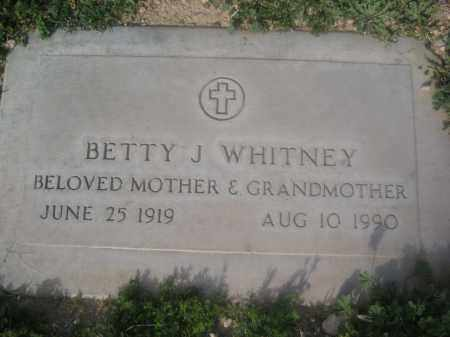 WHITNEY, BETTY J. - Pinal County, Arizona | BETTY J. WHITNEY - Arizona Gravestone Photos