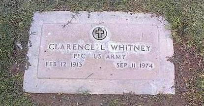 WHITNEY, CLARENCE L. - Pinal County, Arizona | CLARENCE L. WHITNEY - Arizona Gravestone Photos